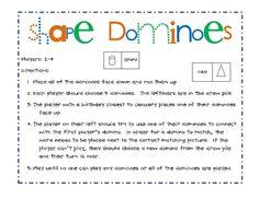 shape domino, printabl shape, basic shape
