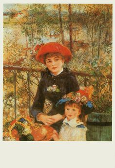 """Renoir painting """"On the Terrace"""""""