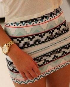 Retro style casual mini skirt style