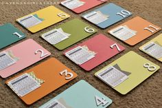 #projectlife - tutorial for DIY mini calendar journal cards {with free mini calendar download}