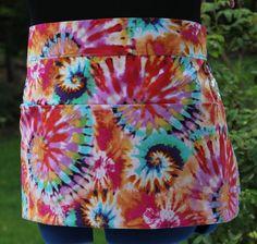 Tye Dye Vendor Apron, Craft Apron, Farmers Market or Server by PunkiePies