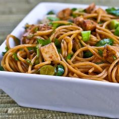 Spicy Whole Wheat Sesame Noodles with Chicken