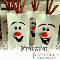 Frozen Olaf Treat Bag Tutorial
