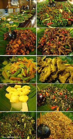 Sundanese food buffet