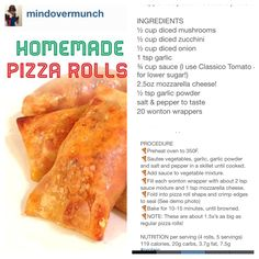 Eat clean pizza rolls
