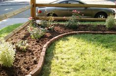 corner lot landscaping ideas | and this is how it looked after a hard winter with way too much snow: