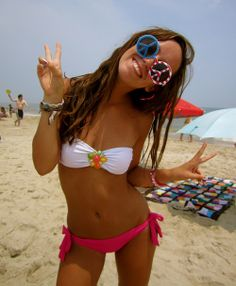 Hot college beach babe