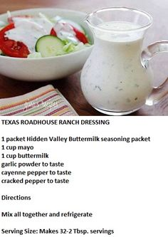 texas ranch dressing roadhouse, cook, texas roadhouse sauce, dip, drink, dressings, texa roadhous, texas roadhouse ranch dressing, roadhous ranch