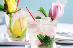 Giggly rose cocktail...what a beautiful cocktail!