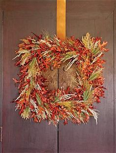 holiday, decorating ideas, fall decorating, autumn harvest, fall wreaths, picture frames, homes, autumn wreaths, decor idea
