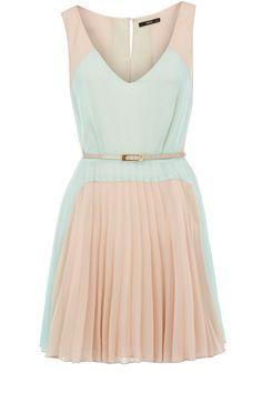 colourblock pleated dress / oasis