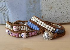 #DIY Wrap Bead Bracelet #Tutorial #diy_jewelry