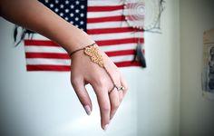 DIY: Golden Lace Slave Bracelet