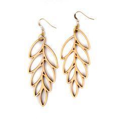Large Leaves Earrings