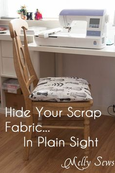 How to Store Scrap Fabric In Plain Sight - Melly Sews