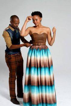 Beautiful color scheme by Thula Sindi and Azania Masoka as model