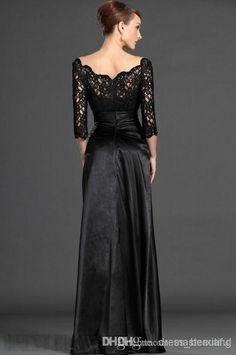 de moda y elegante de encaje negro la madre de vestido de concurso