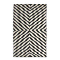 Modern Area Rugs | Black Bridget Indian Kilim Flat Weave Rug | Jonathan Adler