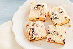 White chocolate, honeycomb and raspberry cheesecake slice main image
