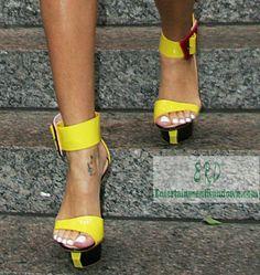 Yellow High Heel Sandals