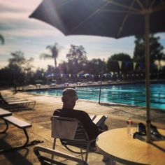 The weather this week is perfect for lounging poolside at The Claremont Club.