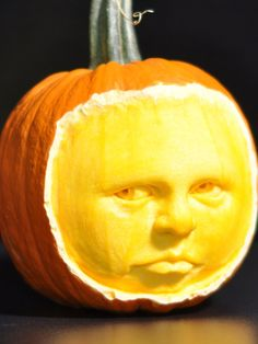 """An unusual feature of this pumpkin was the light-colored ring just below the orange skin. The layer was very hard … like wood."" - Scott Cummins"