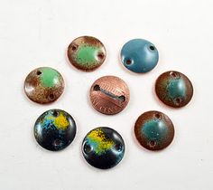 enameled copper pennies