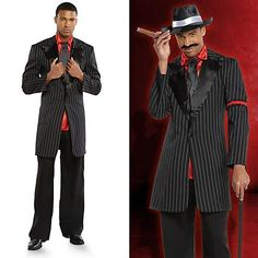 Take gansta cool to the next level! Get ready to walk the walk with a mo' swagga fedora, moustache, cigar and cane!