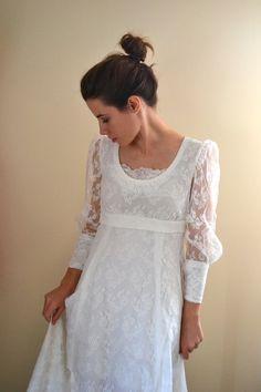 RESERVED 60s wedding dress / 1960s wedding dress by BreanneFaouzi