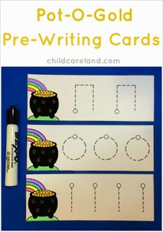 Free this week only Pot of Gold Writing Cards - - pinned by @PediaStaff – Please Visit  ht.ly/63sNt for all our pediatric therapy pins