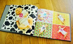 fun idea for a photo book - 52 weeks of baby's first year..each week take a pic of baby on different fabric backdrops. Put a milestone page at the end.