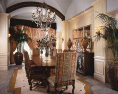 Florida Design  --- Dining room -- INTERIOR DESIGN Jeff Strasser and S. Marc Thee, Marc-Michaels Interior Design, Inc., Winter Park, FL