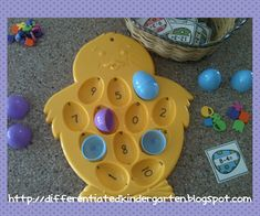 What would you do with an egg plate? Free spring subtraction game!