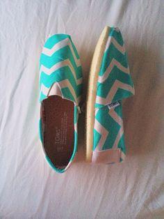 Mint Chevron Toms Women by ClarkCouturecom on Etsy, $70.00
