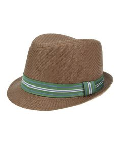 Brown Fedora by RUUM on #zulily #cutiestyle