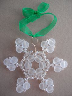 ~ Beaded Snowflake Ornament ~ Tutorial....