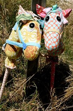 hobby horses--this is such a cute idea!!