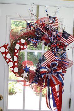 Patriotic wreath by Debra McDaniel
