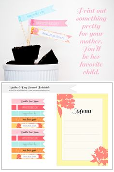 Mother's Day Brunch Printables #mothersday