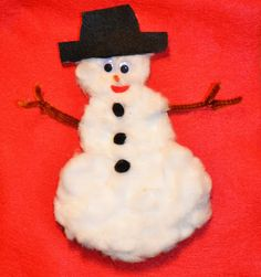 Pulled Cotton Snowman, hand and foot print turkeys, holly jolly notepads, car crafts and more on Artsy Play Wednesday on Capri + 3
