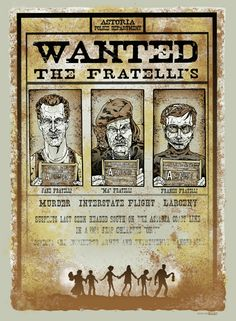 Wanted Poster | The Fratelli's   #Goonies