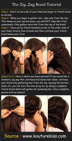 The Zig Zag Braid Tutorial | Hairstyles and Beauty Tips