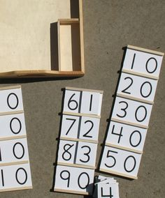 Maybe Montessori: A little DIY Math Post