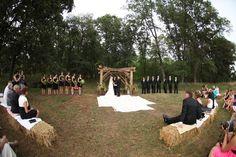 hay bales wedding | Hay bales for seating | Wedding Planner's Work