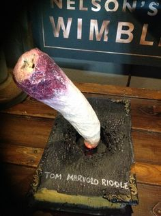 Tom Riddle Diary, made of paper mâché and foam.