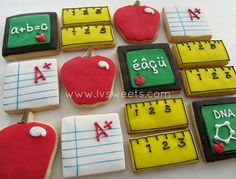 gallery of teacher appreciation cookies | Teacher appreciation - mini cookies, via Flickr. | Teacher Cakes