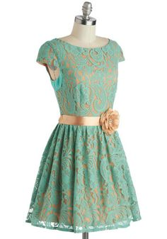 Mint to Dazzle Dress, #ModCloth--Can change the belt if you don't like it. Silver, champagne or even gold would be cute as a belt.