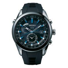 Seiko Mens 'Astron' GPS Solar Watch ...