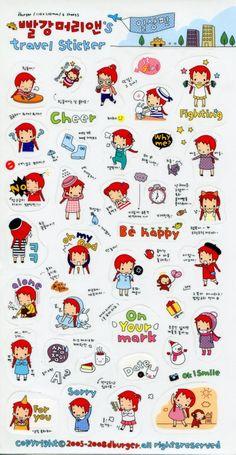 Korea Anne's Europe Travel Deco Sticker Sheet #1 (I1227)