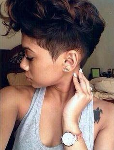 short hair, tattoo placement, natural short, short cuts, short relaxed hair